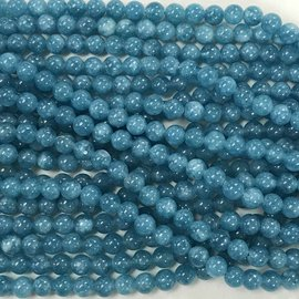 QUARTZ Blue Sponge Natural 6mm Round