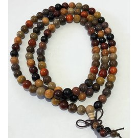 Natural Dried Assorted Wood Beads 8mm 108 Pcs