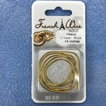 """French Wire Gold Heavy 14"""""""