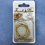 French Wire Gold Medium 14""