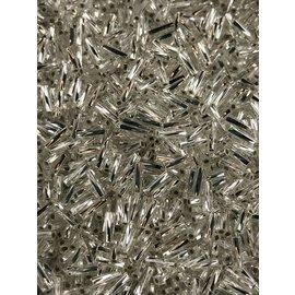 MIYUKI Twisted Bugle #2 Silver Lined Crystal 25g