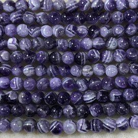 AMETHYST Natural Chevron Variety 6mm Round