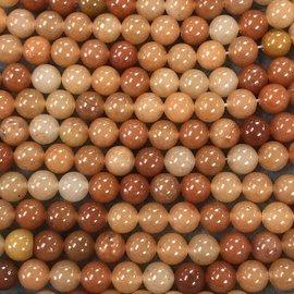 Multi-shade Red AVENTURINE Natural 8mm Round