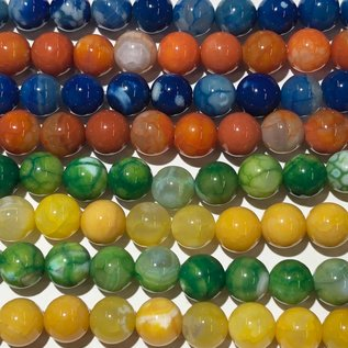 AGATE Assorted Colours 8mm Round