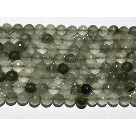 Green Rutilated Quartz 8mm Faceted