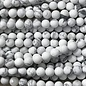 Howlite White Natural Frosted 6mm Round