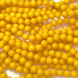 Mashan JADE Natural Dyed Yellow 8mm Round