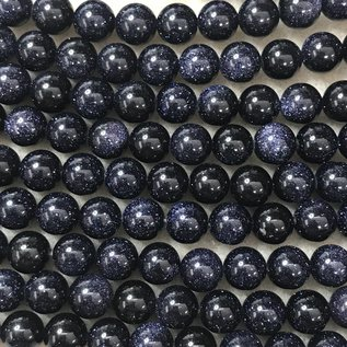 Blue Goldstone 8mm Round
