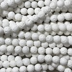 Synthetic WHITE LAVA Diffuser Beads 8mm Round