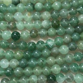 Multi-shade Green AVENTURINE Natural 8mm Rnd