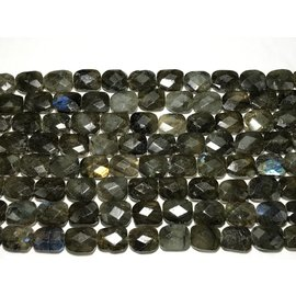 Labradorite Faceted Rectangle Beads 10 X 16mm