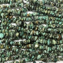 Natural AFRICAN TURQUOISE Chips Beads 32""
