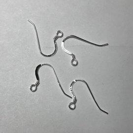 Sterling Silver Fishhook Earwire w/Coil 12pcs