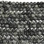 Larvakite Round Beads 10mm Natural