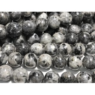Larvakite Round Beads 10mm Natural