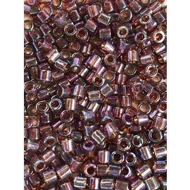 MIYUKI Delica 8-0 Transparent Raspberry AB 10g