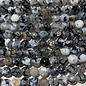 AGATE Dragons Vein Black Ice 8mm Faceted