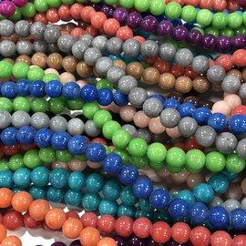 Mashan JADE Natural Mixed Colours 6mm Round