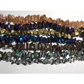 ROCK CRYSTAL Electroplated Crystals 10-30mm