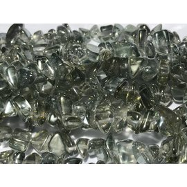 Rock Crystal Electroplated Nuggets Green Small - Medium
