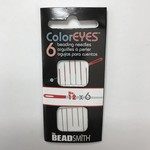 ColorEyes Beading NEEDLES Red #12 6/Pkg