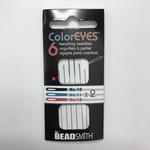 ColorEyes Beading NEEDLES Assorted Colours 6/Pkg