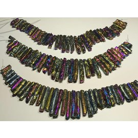 AGATE (Rainbow Electroplated) Graduated Columns