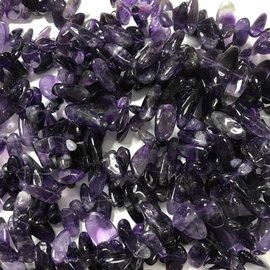 Amethyst Grade A Top-Drilled Nuggets 1/2 Strand