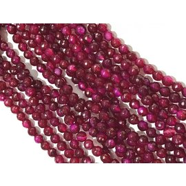 AGATE Dyed Burgundy 6mm Faceted
