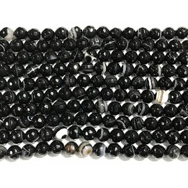 AGATE Black Madagascar 8mm Faceted