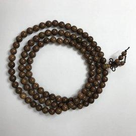 Natural Gold Phoebe Ebony Beads 8mm 108 Pcs