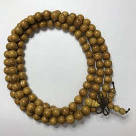 Natural Yellow Nangka Wood Beads 8mm 108 Pcs