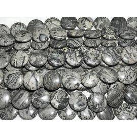 Grey Scenery JASPER Coins 25mm