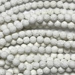 Synthetic WHITE LAVA Diffuser Beads 6mm Round