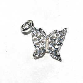 Sterling Silver Butterfly Mini Charm 13mm