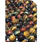 TIGER EYE Natural Tri-Colours 12mm Round