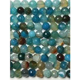 AGATE Spring Colours - Sea Blue 8mm Faceted