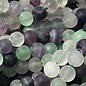 FLUORITE Natural Frosted 6mm Round