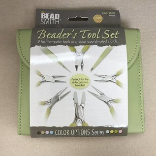 BeadSmith PLIER SET 8 Pc BeadSmith - Light Olive