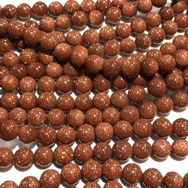 Goldstone 6mm Round