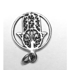 Sterling Silver HAMSA Hand Charm/Pendant 18mm