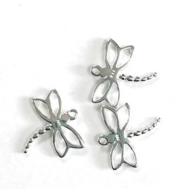 Sterling Silver Dragonfly Mini Charm 13mm