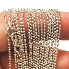 STERLING SILVER Ball Chain 22""