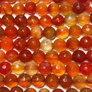 AGATE Dark Orange 8mm Faceted