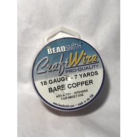 Bare Copper Wire - 18 Gauge Round 7 Yards