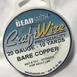 Bare Copper Wire - 20 Gauge Round 10 Yards