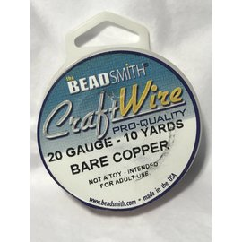 Bare Copper Wire - 20 Gauge Round 10 Yards