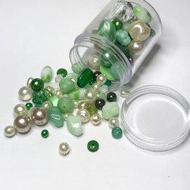 Preciosa Czech Glass Bead Mix - Green 55g