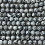 Grey Scenery Jasper Natural 8mm Round