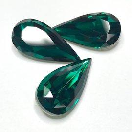 Swarovski Fancy Stone Teardrop 22x11mm Emerald 2pcs